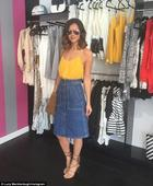 TOWIE's Lucy Mecklenburgh leaves Essex boutique in simmer outfit