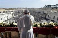 Pope at Easter recalls victims of blind, brutal terrorism