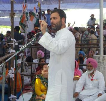 Rahul Gandhi makes drugs Punjab poll issue, guns for Akali government