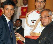 Receives Padma Bhushan: Rahul Dravid