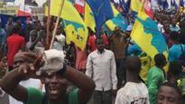 Congo stone throwers 'kill policewoman'