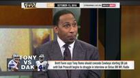 Stephen A. Smith slams 'flaming hypocrite' Brett Favre during Tony Romo debate