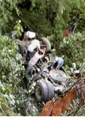 One killed as bus falls in gorge