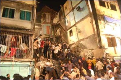 Three-storey building collapses in Bhiwandi near Mumbai