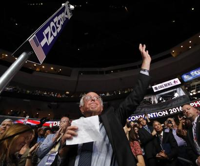 In move for unity, Sanders asks convention to nominate Clinton