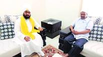 H S Phoolka in tow, Arvind Kejriwal calls on Dhadrianwale