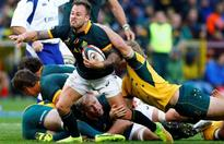REFILE-UPDATE 1-Rugby-Hougaard on a wing and a prayer for Boks