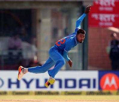 What is Hardik Pandya's role with the ball for Team India?