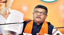 Ravi Shankar Prasad seeks RaGa's reply on 'Hindu terror' comment