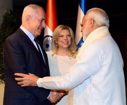 PHOTOS: Netanyahus host Modi for a private dinner