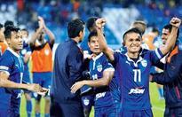 Chhetri brace takes BFC to AFC quarters