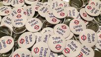 Tube Chat? badges become a talking point for London Underground commuters