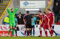 Aberdeen boss Derek McInnes rages at referee Andrew Dallas for 'poor' penalty decision despite Dons' win