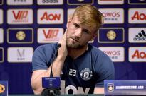 Emotional comeback after 10 months best feelin... Manchester United's Luke Shaw reacts as he prepares to answer a question...