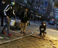 Hong Kong: Hawkers protest against removal of illegal street stalls set up for Lunar New Year