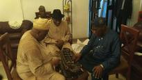 Goodluck Jonathan visits Obasanjo in his Ibogun Ota Ogun village