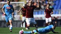 Radja Nainggolan leads Roma to win vs. Napoli, keeps race for second alive