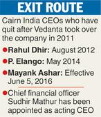Cairn India boss quits