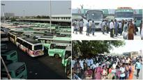 22,000 buses go off roads, lakhs stranded in TN