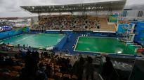 'AN EMBARRASSMENT': Olympic officials forced to drain green diving pool
