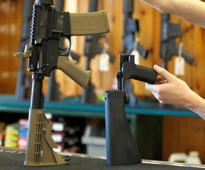 Trump pushes for ban on rapid-fire gun 'bump stocks'