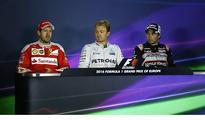 Sebastian Vettel cusses when he...
