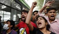 TISS Students And Alumni Protest Near HRD Ministry