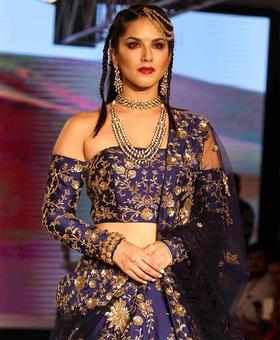 WOW! Sunny Leone is a royal bride in blue