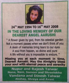 Remembering Aarushi