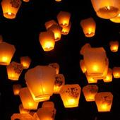 Chinese Lanterns are banned at Glastonbury Festival