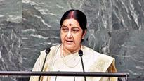 Missing oil tanker: Sushma Swaraj speaks with Nigerian FM, seeks help