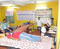 Blood Donation Camp on National Voters Day by Indian Red Cross Society, Odisha State Branch