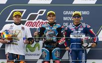 Binder wins Moto3 title, Navarro Aragon GP