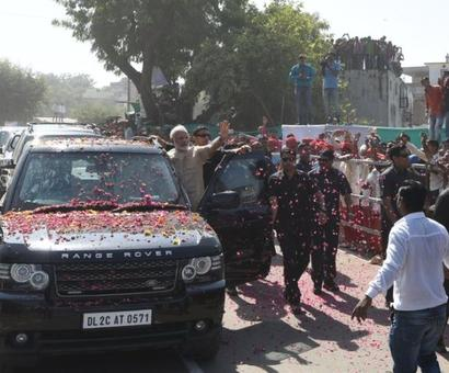 PM Modi addresses rally in hometown