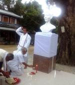 Statue of Lamyanba Hijam Irabot unveiled at Leimaram  Villagers recall memory of the pioneer leaders