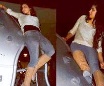 Spotted: Katrina Kaif, Aamir Khan doing 'Dhoom 3' stunts