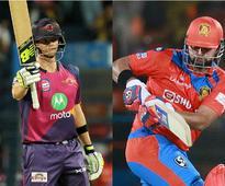 Live IPL 2017, GL vs RPS in Rajkot, cricket scores and updates: Rahane dismissed for duck