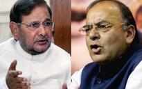 Jaitley, Sharad Yadav exchange banter over demonetisation in Rajya Sabha