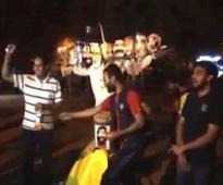 Video: NSUI burns effigy of Modi in JNU, projects him as Ravan, rises objectionable slogans