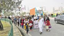 Greater Noida buyers protest against builders, government over delay in delivery...