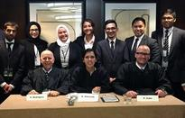 AUS students beat Stanford team in advanced rounds at Moot Court Competition