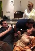 WATCH: Salman Khan gives a sweet kiss to mom Salma Khan on her 75th birthday