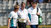 Umpire Paul Reiffel struck on head during India v England Test in Mumbai
