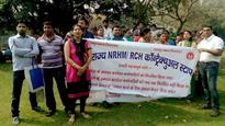 NRHM contractual workers in Delhi go on indefinite strike over equal pay