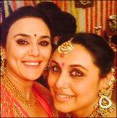 Preity Zinta posts a selfie with pregnant doll Rani Mukerji