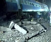 Pics: Mangled remains of train