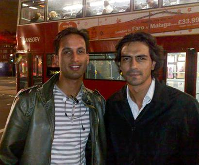 What was Arjun Rampal doing in London?