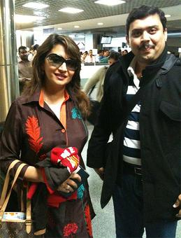 Spotted: Madhuri Dixit at Mumbai airport