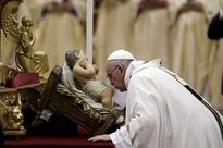 Pope Francis celebrates Christmas Midnight Mass