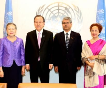 New Indian envoy to UN meets Ban Ki Moon
